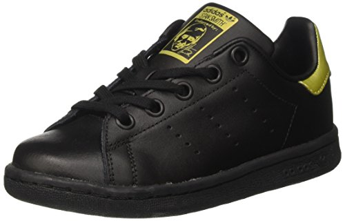 adidas Stan Smith, Sneaker a Collo Basso Unisex – Bambini Nero (Core Black/Core Black/Gold Metallic)