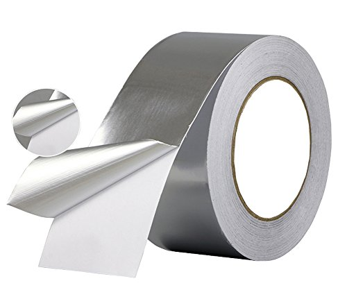 Aluminum Foil Tape- best for HVAC, Ducts, Insulation and Heavy Duty Aluminum Foil Tape Thickness 2.4mil and 6 mil, Kaifa (1.2 inch wide x 33 yards long(Thick 2.4 mil))