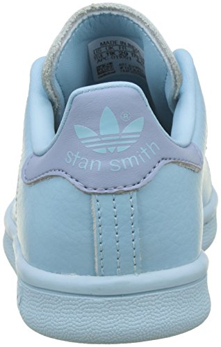 adidas Unisex-Kinder Stan Smith Sneaker Blau (Ice Blue/ice Blue/tactile Blue)
