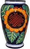 Sunflowers Mermaid Talavera Flower Vase