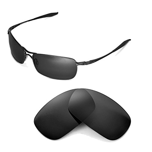 Walleva Replacement Lenses for Oakley Crosshair 2.0 Sunglasses - Multiple Options Available (Black - - 2.0 Crosshair Oakley Replacement Lenses Polarized