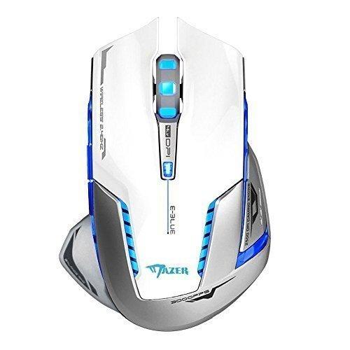 - E-Blue Mazer II Professional LED Optical 2500 DPI Wireless Gaming Mouse Mice for PC, MAC (White)