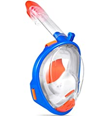 Product Description:  The Ranersports dry snorkel technology to prevent water from getting into mask, a comfortable crystal silicone mask skirt, and a fog-free ventilation design.breathing easily and naturally with the Ranersports Full Face S...
