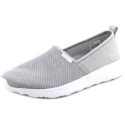 adidas Women's Shoes | Lite Racer Slip On Fashion Sneakers, Clear Light Onyx/White, (9 M US)