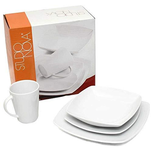 (Studio Nova Boat Dinnerware Place Setting Y0800/904 | White (4 PC))