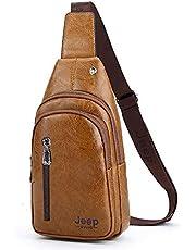 Jeep Buluo Leather Sling Shoulder Bag For Men - Havan