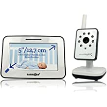 Babies R Us 5 Inch Video Baby Monitor with Night Vision, Color, Flat Screen, Video and Sound Baby Monitor