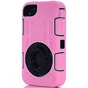 DUR Double Protection Ring Shape PC and TPU Hard Case with Stand for iPhone 4/4S (Assorted Colors) , Hunter Green