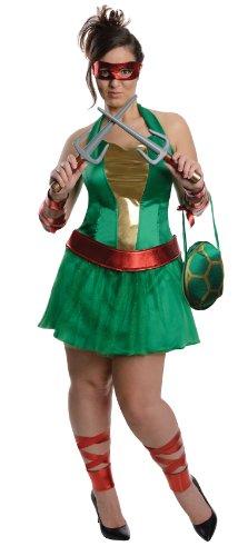 Nickelodeon Plus-Size Ninja Turtles Raphael Dress, Green, Plus