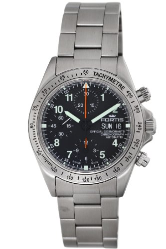Fortis Men's 'Official Cosmonauts Chronograph' Swiss Automatic Stainless Steel Sport Watch, Color:Silver-Toned (Model: 630.10.11 M)