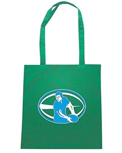 T-Shirtshock - Bolsa para la compra TRUG0179 rugby player logo Verde