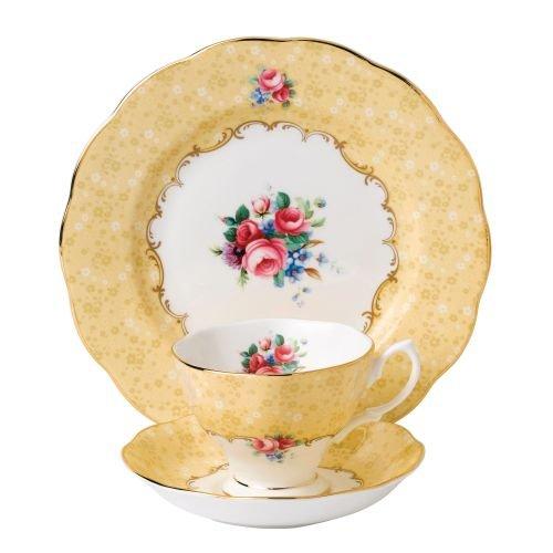 "Royal Albert 3 Piece 100 Years 1990 Teacup, Saucer & Plate Set, 8"", Multicolor"