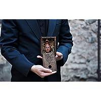 Beard oil in viking ceramic amphora in wooden box celtic nordic medieval men's gift