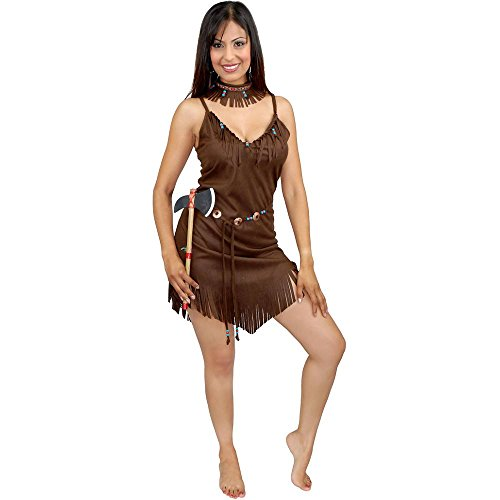 Pocahontas Costume Adult Native American Indian Dark Brown (Medium) (Pocahontas Adult)