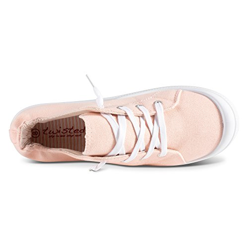 Andrea Sneakers Womens Canvas Twisted Blush On Slip g5Uxqw