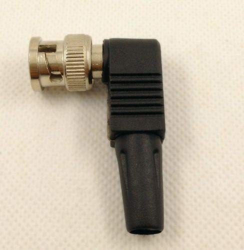 LINKICH 100pcs RG59 BNC Male Plug pin Solderless Soldering Right Angle Connector for CCTV Camera