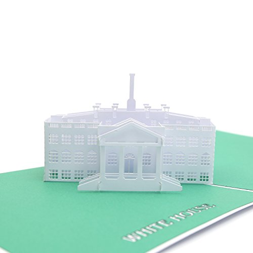 Liif White House Pop Up Card Card, 3D House Pop Up Card, Pop Up Card for all occasions, Birthday, Thank you, Thinking Of You, Congratulations
