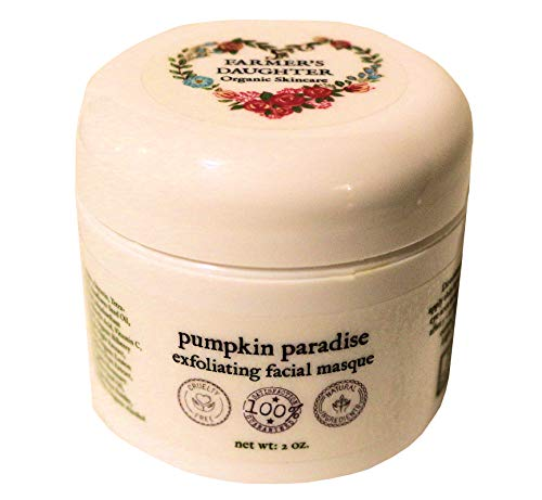 Pumpkin Paradise Exfoliating Facial Masque (2 oz) Glycolic Acid Peel Face Mask with Vital Collagen Peptides, Best Mask for Acne, No Burning, Starts Clearing Overnight, Lightens Scars and Dark Spots ()