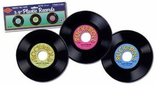 Plastic Records Party Accessory (1 count) (3/Pkg)