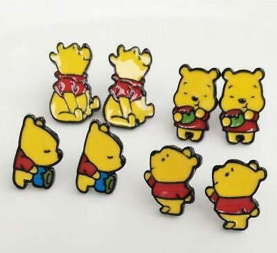 FidgetFidget 4 Pairs Pooh The Winnie Bears Metal hot Fashion Earring Earring Studs New