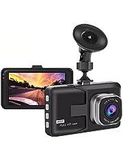 XUANWEI Câmera Dash Cam para carros, 1080P HD Car DVR com tela de 3 polegadas, ângulo amplo de 140°, Super visão noturna/gravação de movimento/detecção de movimento/monitoramento de estacionamento