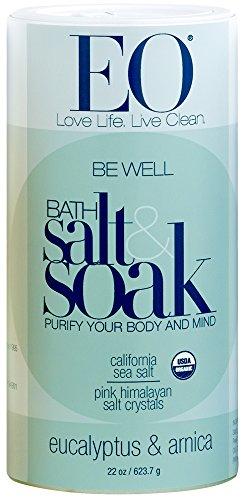 EO Botanical Bath Salt Soak, Be Well, Eucalyptus & Arnica, 22 Ounce (24 Count) (Plants That Don T Like Epsom Salt)