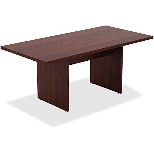 6' Rectangular Laminate - Lorell Chateau Srs Mahogany 6' Rectangular Table