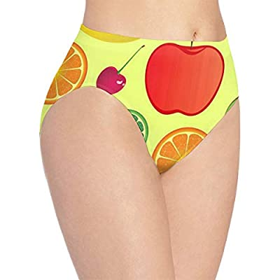 Womens Underwear Apple Kiwi Unique Bikini Brief Hipster Panties