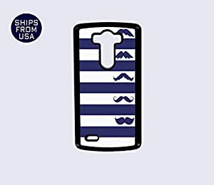 LG G3 Case - Blue White Stripes Mustaches iPhone Cover