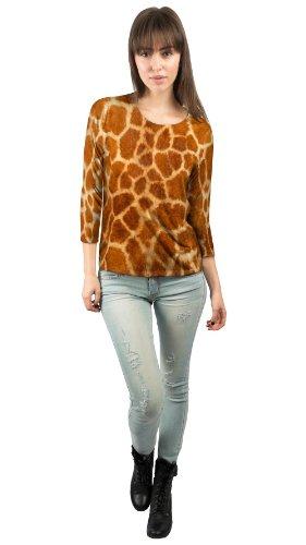 Yizzam- Giraffe skin -New Ladies Womens 3/4 (New Giraffe Print)