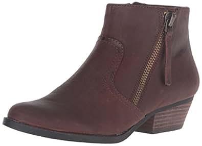 Nine West Women's Sivan Leather Ankle Bootie, Brown, 5 M US