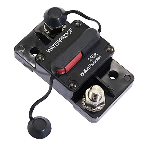 (IZTOSS 250 Amp Circuit Breaker with Manual Reset High Amp, Waterproof, Flush-Mount Circuit Breaker)