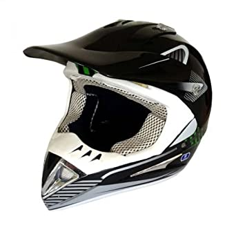 Cross Casco para quad atv Enduro Motocross Casco Moto Casco Negro Tamaño: S