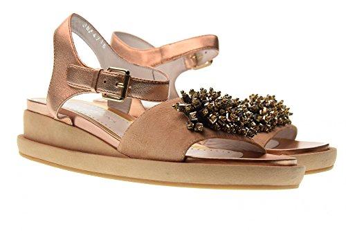 ALTRAOFFICINA Zapatos de Las Sandalias Q1301X Nude Nude