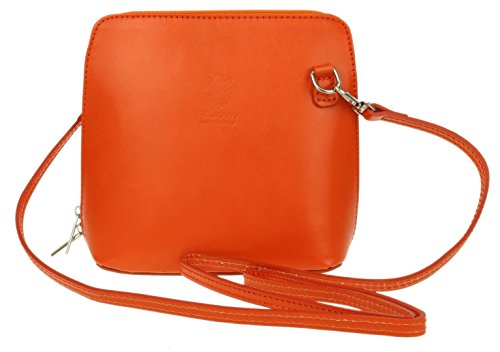 Piel Bolso Handbags Naranja cruzados para de naranja Girly mujer UIwZW
