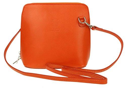 Girly para Piel mujer de naranja cruzados Handbags Bolso Naranja rXqIw7r1