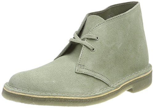 Clarks Boots Desert Femme Suede sage Beige WSTqWnB