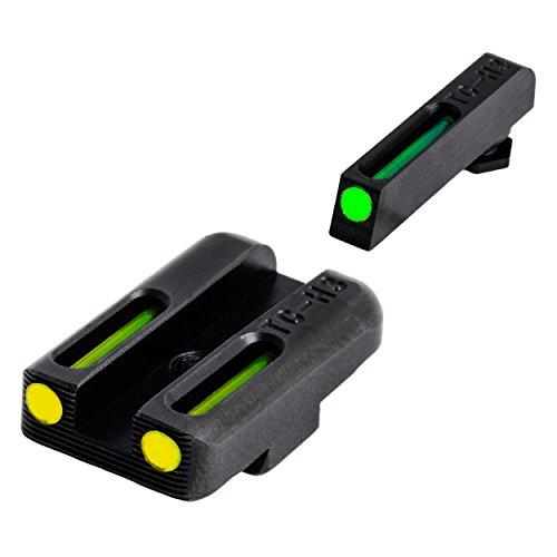 TRUGLO TG131GT1B TFO Brite-Site Series, Glock 42 Set, Yellow Riser (Best Night Sights For Glock 43)
