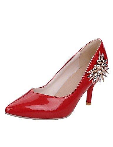 GGX/ Damen-High Heels-Büro / Lässig-Lackleder-Stöckelabsatz-Absätze / Spitzschuh-Schwarz / Lila / Rot red-us9.5-10 / eu41 / uk7.5-8 / cn42