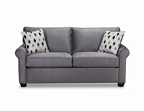 Simmons Upholstery 1530-04F JoJo Smoke Jojo Sleeper Sofa, Slate