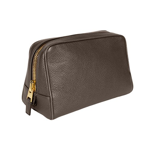 Tom Ford Gray Leather Toiletry Bag by Tom Ford.