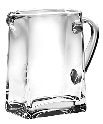 Majestic Gifts European Glass Rectangular Pitcher, Large,43 oz
