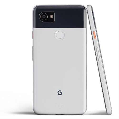 totallee Pixel 2 XL Case, Thinnest Cover Premium Ultra Thin Light Slim Soft Minimal Anti-Scratch Protective TPU - for Google Pixel 2XL (Clear)