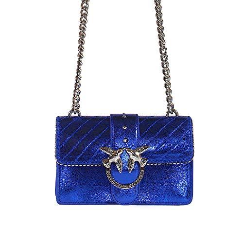 Automne Love Hiver Metallic 2019 Femme Mini Quilted Pinko Sac Accessoires Bag Bleu wnIzWqp1