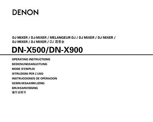 Denon DN-X500 DJ Mixer Owners Instruction Manual Reprint [Plastic Comb] (Denon Mixers)