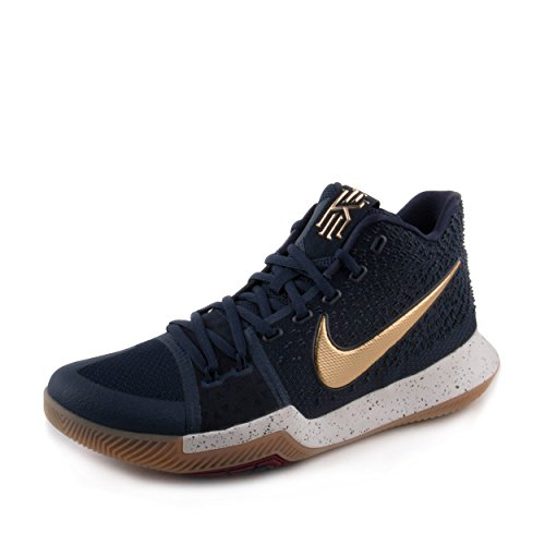 Gold Obsidian (NIKE Kyrie 3 Men's Basketball Shoes Obidian/Metallic Gold/White 852395-400 (9.5 D(M) US))
