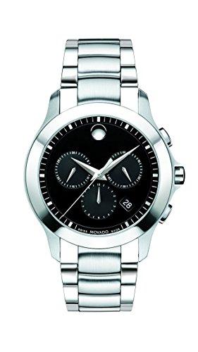 Movado Masino Chronograph Black Dial Men's Watch (Large Image)