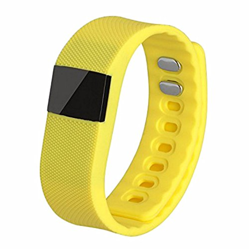 Activity Tracker,NewYouDirect Fitness Tracker Smart Watch Smart Band Wireless Bluetooth Sleep Monitor Wristband Running Pedometer Exercise for Android 4.3 IOS 7.0 (Yellow')