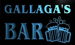 w048592-b GALLAGA Name Home Bar Pub Beer Mugs Cheers Neon Light Sign