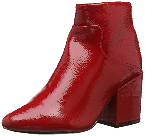 Micha 0055 Boot Block Heel red Ankle Donna wide Stivaletti Red Lost Fit Ink 57gqxwZ